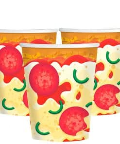 Pizza Party Paper Cups