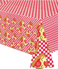 Pizza Party Paper Tablecover