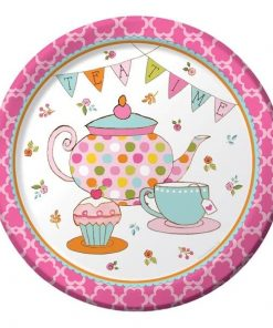 Afternoon Tea Time Party Paper Plates