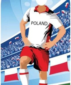 World Cup Football Poland Stand-In Cutout Decoration