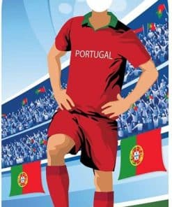 World Cup Football Portugal Stand-In Cutout Decoration