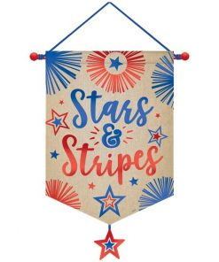 Celebrate USA 4th July Stars & Stripes Canvas Banner