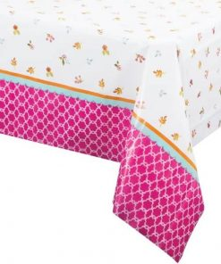 Afternoon Tea Time Party Plastic Tablecover