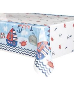 Nautical 1st Birthday Party Plastic Tablecover