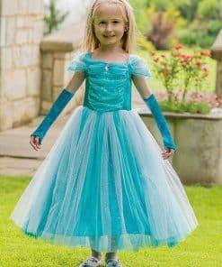 Turquoise Sparkle Princess Costume