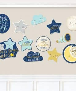 Twinkle Little Star Baby Shower Party Cutout Decorations