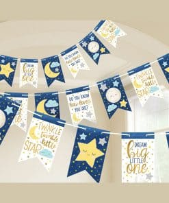 Twinkle Little Star Baby Shower Party Paper Bunting