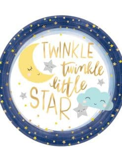 Twinkle Little Star Baby Shower Party Paper Plates
