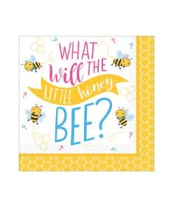 What Will It Bee Party Paper Napkins