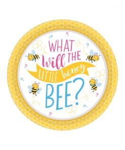 What Will It Bee Party Paper Dessert Plates