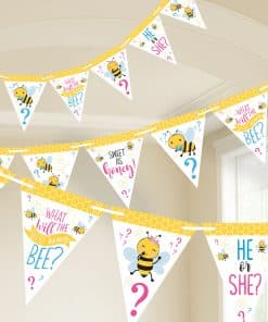 What Will It Bee Party Paper Bunting