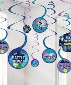 Battle Royal Hanging Swirl Decorations