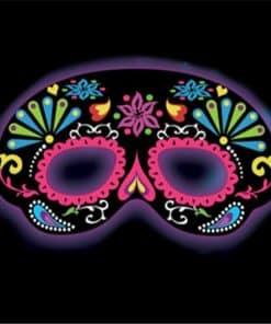 Black Ornamental Glow Stick Mask