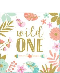 Boho Birthday Girl Party 'Wild One' Napkins