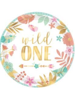 Boho Birthday Girl Party 'Wild One' Plate