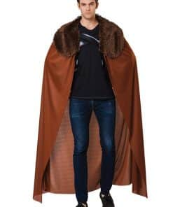 Brown Fur Collared Cape