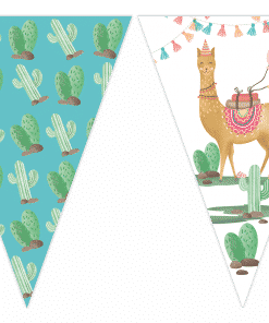 Llama Party Flag Bunting