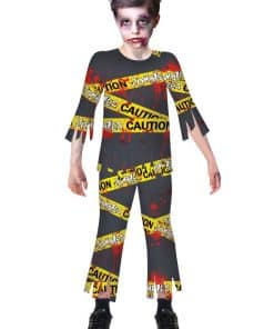 Caution Zombie Child Costume