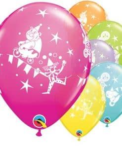 Circus Printed Latex Balloons