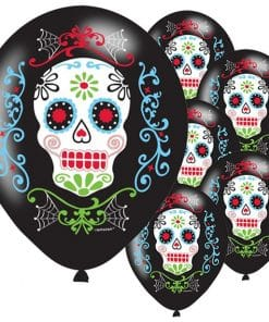 Day of the Dead Party Latex Balloons