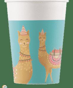 Llama Party Paper Cups