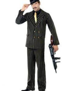 Gold Pinstripe Gangster Suit