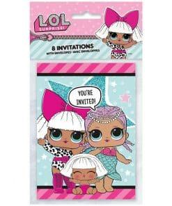 L.O.L Surprise Party Invites