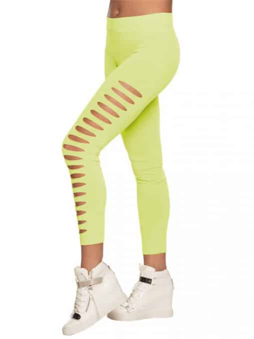 Neon Ripped 1980's Style Leggings