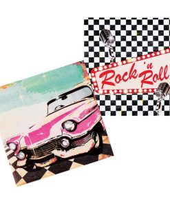 50s Classic Rock n Roll Lunch Paper Napkins