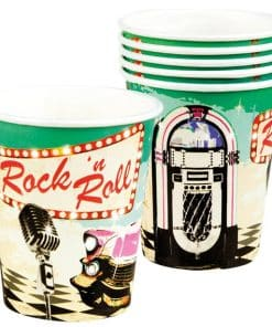 50s Classic Rock n Roll Party Paper Cups