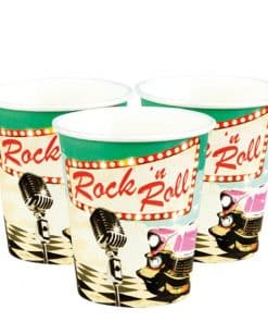 50s Classic Rock n Roll Party Cups