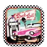 50s Classic Rock n Roll Party Paper Plates