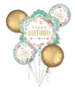 Boho Birthday Girl Balloon Bouquet