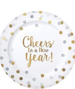 'Cheers to a New Year' Premium Plastic Plates