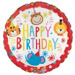 Circus Happy Birthday Foil Balloon