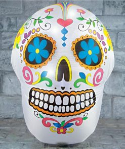 Colourful Light-Up Skeleton Head