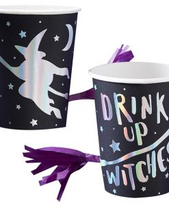 Drink Up Witches Cups with Tassel