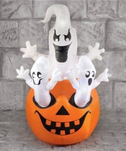 Ghosts on Pumpkins Inflatable Decoration