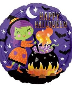 Happy Halloween Witches & Cauldron Balloon