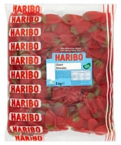 Haribo Giant Strawberries Bulk Bag