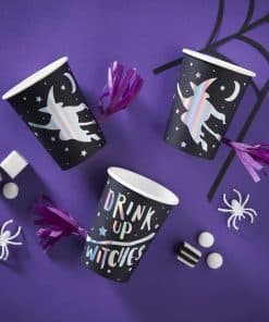 IRIDESCENT FOILED DRINK UP WITCHES TASSEL CUPS - CREEP IT REAL