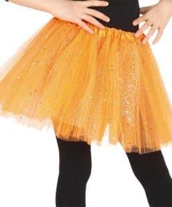 Child Orange Glitter Tutu
