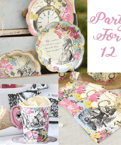 Alice in Wonderland Themed Truly Alice Party Pack for 12