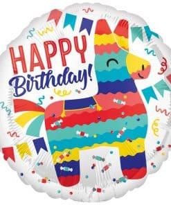 Piñata Happy Birthday Balloon