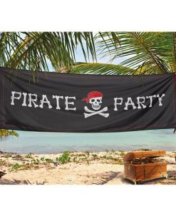 Pirate Party Fabric Banner
