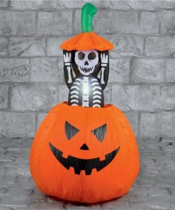 Pumpkin with Pop Up Skeleton