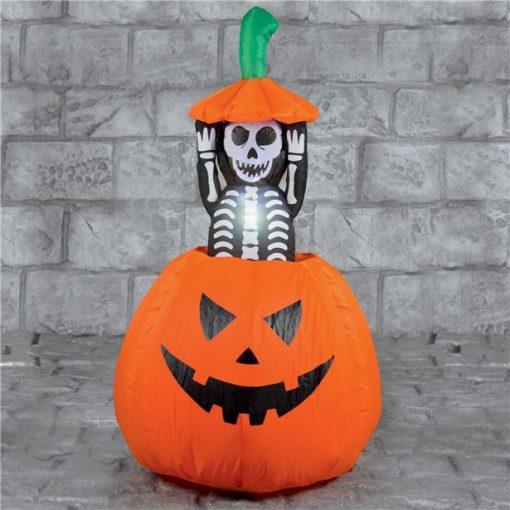 Pumpkin with Pop Up Skeleton