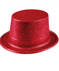 Red Glitter Top Hat
