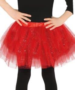 Child Red Glitter Tutu