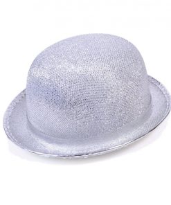 Silver Bowler Hat